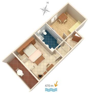 Barbat, Plan in the apartment, WIFI.