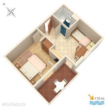 Balića Rat, Plan in the apartment, WiFi.