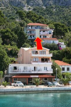 Živogošće - Porat, Makarska, Obiekt 4878 - Apartamenty przy morzu ze żwirową plażą.