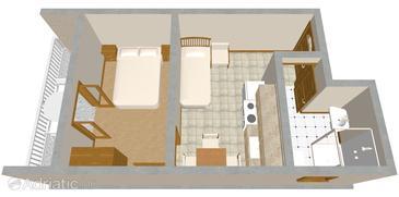 Pirovac, Plan in the apartment.