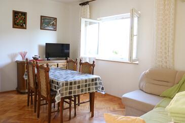 Grebaštica, Столовая в размещении типа apartment, доступный кондиционер и WiFi.