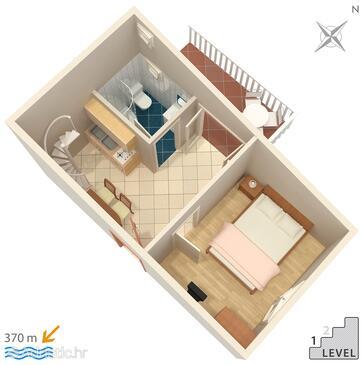 Vinišće, Schema nell'alloggi del tipo apartment, WiFi.
