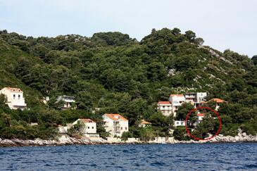 Sobra, Mljet, Objekt 4888 - Ubytování v blízkosti moře.