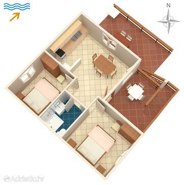 Dumboka, Plan in the apartment, (pet friendly).