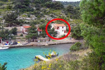 Dumboka, Dugi otok, Property 489 - Apartments near sea with rocky beach.