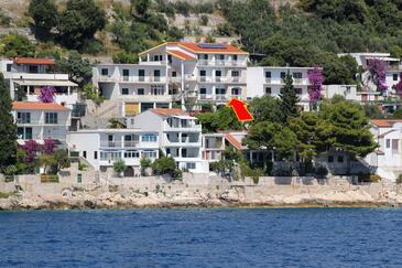 Drvenik Gornja vala, Makarska, Obiekt 4890 - Apartamenty ze żwirową plażą.