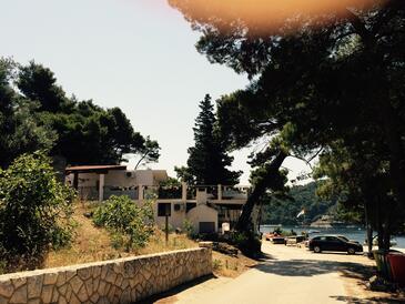 Saplunara, Mljet, Obiekt 4900 - Apartamenty przy morzu z piaszczystą plażą.