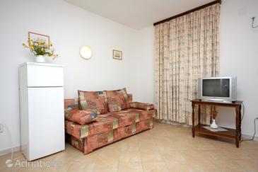 Saplunara, Living room in the apartment.