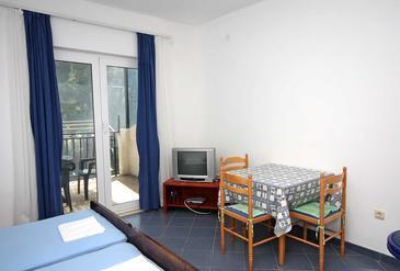 Saplunara, Jadalnia w zakwaterowaniu typu studio-apartment, dopusteni kucni ljubimci i WIFI.