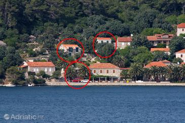 Babine Kuće, Mljet, Property 4927 - Apartments near sea with rocky beach.