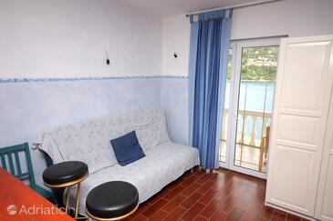Polače, Living room in the studio-apartment, WIFI.