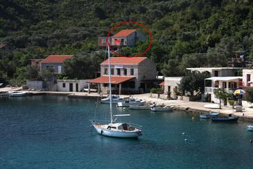 Prožurska Luka, Mljet, Objekt 4939 - Ubytování v blízkosti moře s kamínkovou pláží.