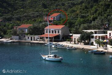 Prožurska Luka, Mljet, Объект 4939 - Апартаменты вблизи моря со скалистым пляжем.