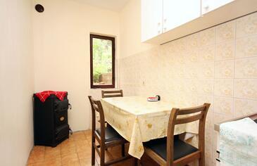 Prožurska Luka, Dining room in the apartment, dostupna klima i dopusteni kucni ljubimci.