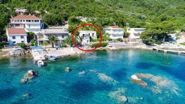 Okuklje, Mljet, Objekt 4943 - Ubytování v blízkosti moře s kamenitou pláží.