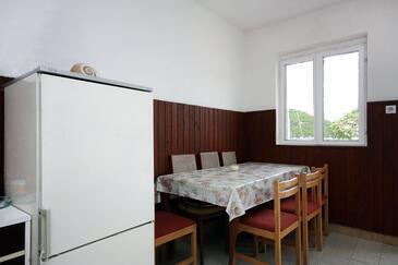 Prožurska Luka, Jídelna v ubytování typu house.