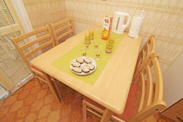 Prožurska Luka, Jídelna v ubytování typu apartment, WiFi.
