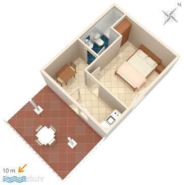Saplunara, Plan in the apartment.
