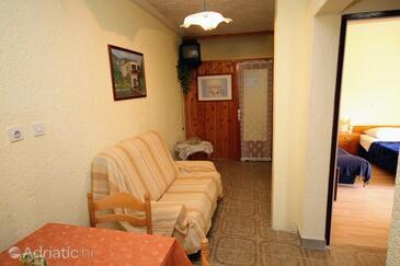 Mundanije, Living room in the apartment, dopusteni kucni ljubimci i WIFI.