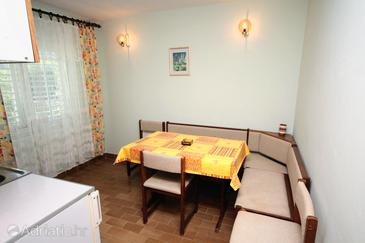 Supetarska Draga - Donja, Dining room in the apartment, dopusteni kucni ljubimci.