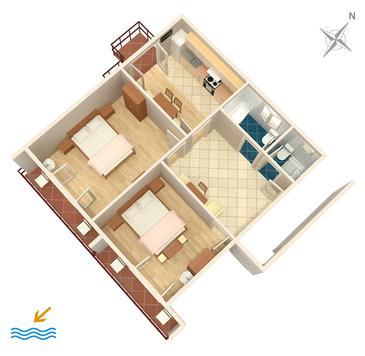Banjol, Plan in the apartment, WIFI.
