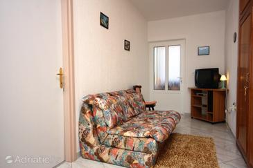 Supetarska Draga - Donja, Living room in the apartment, dopusteni kucni ljubimci i WIFI.
