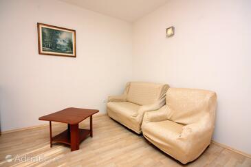Kampor, Гостиная в размещении типа apartment, WiFi.