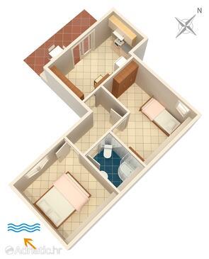 Supetarska Draga - Gonar, План в размещении типа apartment, Домашние животные допускаются.