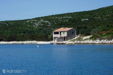 Soline, Pašman, Szálláshely 499 - Nyaralóház a tenger közelében köves stranddal.