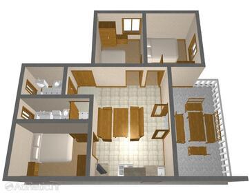 Soline, Alaprajz szállásegység típusa house, háziállat engedélyezve.