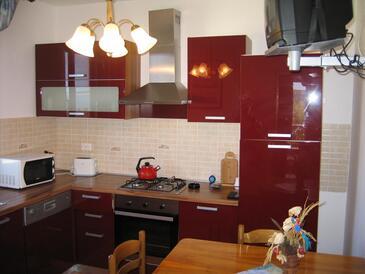 Supetarska Draga - Gonar, Dining room in the apartment, dopusteni kucni ljubimci.