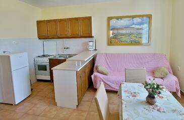 Kampor, Jídelna v ubytování typu apartment, s klimatizací a WiFi.