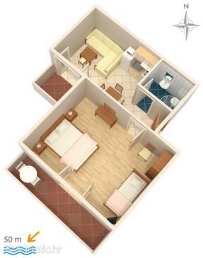 Palit, Plan in the apartment, dopusteni kucni ljubimci i WIFI.