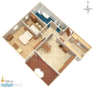 Palit, План в размещении типа apartment.