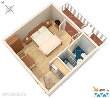 Barbat, Půdorys v ubytování typu studio-apartment, WiFi.