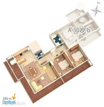 Banjol, План в размещении типа apartment, WiFi.