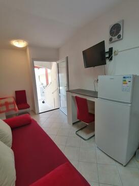Lopar, Obývací pokoj v ubytování typu studio-apartment, WiFi.