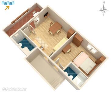 Supetarska Draga - Donja, Proiect în unitate de cazare tip apartment, animale de companie sunt acceptate şi WiFi.
