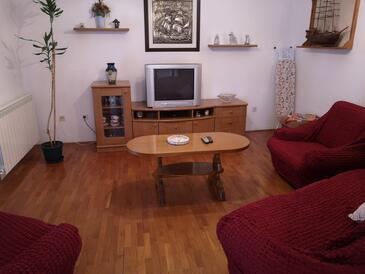 Kampor, Obývací pokoj v ubytování typu apartment, WiFi.