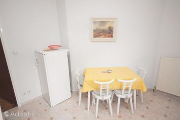 Supetarska Draga - Donja, Dining room in the apartment, dostupna klima, dopusteni kucni ljubimci i WIFI.
