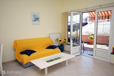 Supetarska Draga - Donja, Living room in the apartment, dopusteni kucni ljubimci i WIFI.