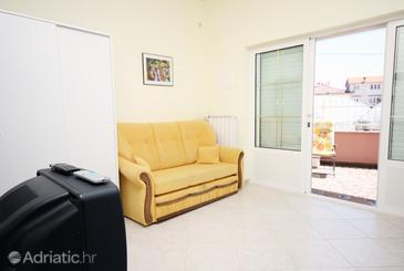 Supetarska Draga - Donja, Living room in the studio-apartment, dopusteni kucni ljubimci i WIFI.