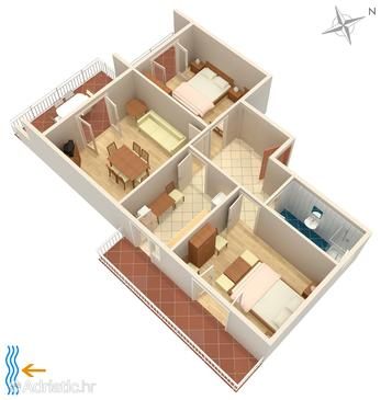 Palit, Plan in the apartment.