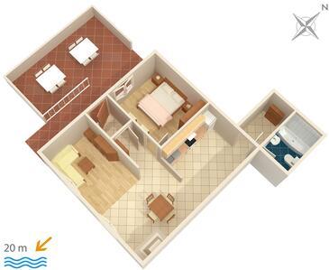 Brist, Půdorys v ubytování typu apartment, WiFi.