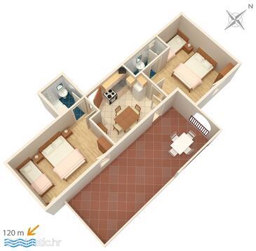 Suha Punta, План в размещении типа apartment, Домашние животные допускаются и WiFi.