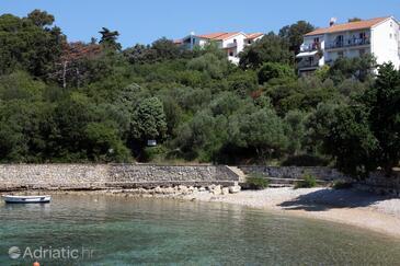 Suha Punta, Rab, Объект 5050 - Апартаменты вблизи моря с галечным пляжем.