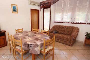 Supetarska Draga - Donja, Dining room in the apartment, dopusteni kucni ljubimci i WIFI.