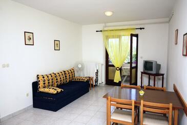 Jezera, Obývacia izba v ubytovacej jednotke apartment, dopusteni kucni ljubimci.