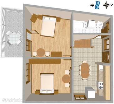 Brist, План в размещении типа apartment, WiFi.