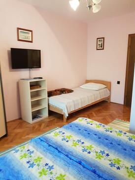 Jezera, Ložnice v ubytování typu room, domácí mazlíčci povoleni.